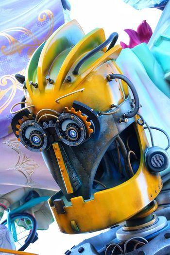 No People Yellow Close-up Transportation Metal Machinery Mode Of Transportation