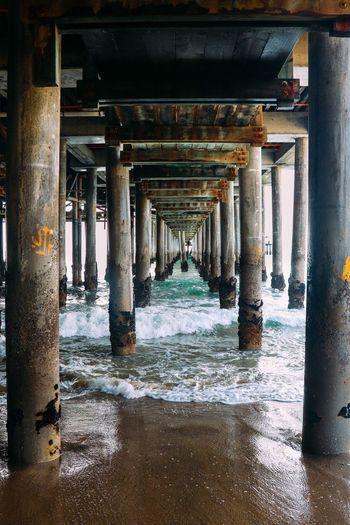 Pier. Architectural Column Architecture Water Pier Below Day Sea Beach Under Ocean Nature Wild Photography Art Solitude Arte