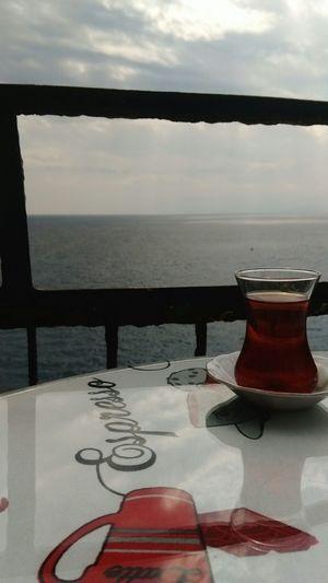 Tea Time Mediterranean Sea Blue Sky Horizon