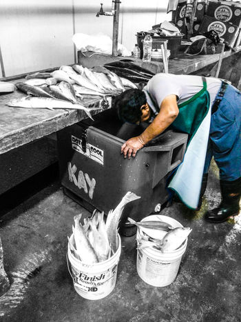 Fisherman hard at work Fishes 🐠 Monochrome Dualtone BestofEyeEm Dualtone Working Hard Working Makingmoney Caribbean