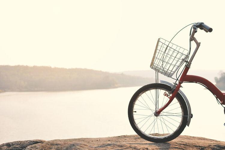Bicycle against sky