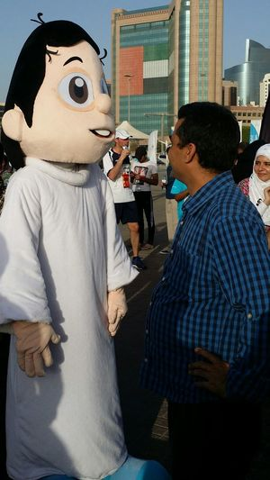 Uae,abudhabi Etihadairways 3rd Annual Charity Event Run For A Cause Local Cartoon Character