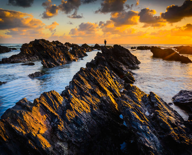lost Second Acts Travel Photography Wanderlust Beauty In Nature Cliff Cloud - Sky Day Horizon Over Water Nature Outdoors Rock Rock - Object Scenics Sea Silhouette Sky Sunset Tranquil Scene Tranquility Water Perspectives On Nature