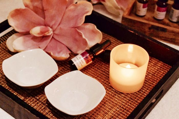 Candle Flower Petal Indoors  No People Plate Table Close-up Tea Light Nature Freshness Day Beuaty  Pamper Spa
