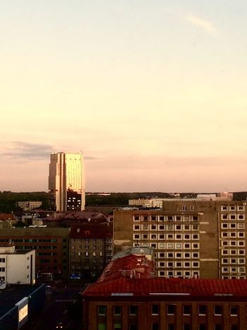 Architecture Building Exterior City Built Structure Cityscape Skyscraper Sunset Urban Skyline Outdoors No People Cityscape Tallinn Hotel View