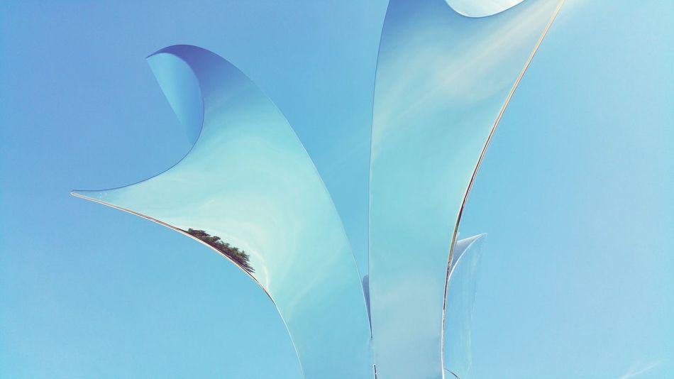 Stainless steel sculpture at ArtPrize 2015.