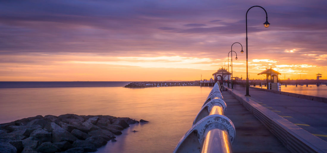 Sunset Cloud - Sky No People Golden Hour Outdoors Water Bridge - Man Made Structure Travel Destinations Vacations Australia