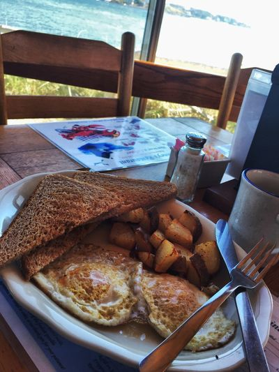 Breakfast With A View Breakfast at the beach Taking Photos Maine Carol Sharkey Photography