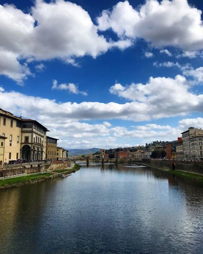 Ponte vecchio 💜 Cityscape Bridge Florence Italy Building Exterior Architecture Built Structure Water Sky Cloud - Sky City Building Waterfront Nature Residential District River Outdoors House No People Day Reflection Row House Streetwise Photography My Best Photo