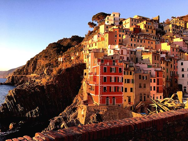Colors are happiness [ 5 Terre, Liguria]• Architecture Building Exterior Italy 5 Terre Italia Liguria Sky Clear Sky Low Angle View City Travel Destinations Outdoors Residential Building No People Beauty