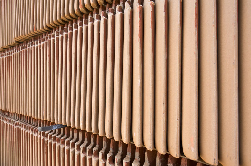 Building Material Pattern Backgrounds No People Full Frame Close-up In A Row Side By Side Indoors  Large Group Of Objects Abundance Architecture Textured  Corrugated Repetition Contruction Zone Material Photography Color Image