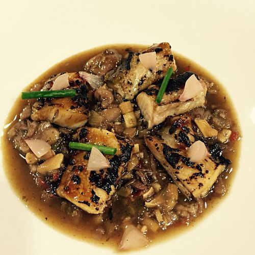 """Real kitchen """"Eel with veal tendons"""" Food Porn Food And Drink Plate Plating Food"""