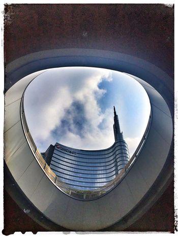 Gae Aulenti Sky Architecture Built Structure Building Exterior Auto Post Production Filter Cloud - Sky Transfer Print Tower City