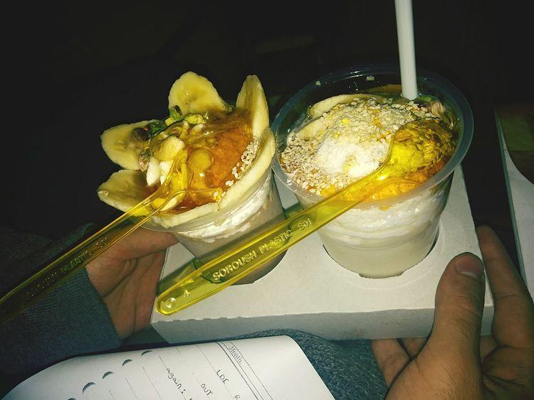 Banana Milk At Night ............♥ Soooo Sweeet! One Of Is For Me😂