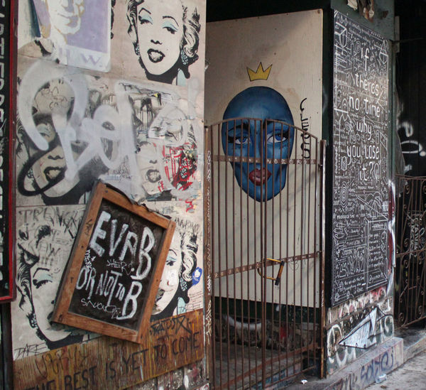 Photos taken in and around Montreal, fall of 2018. The exterior of Eva B 2015 St Laurent Blvd, Montreal, QC H2X 2T3 Mural Fun Outdoors Building Exterior Building Craft Western Script Architecture Day Graffiti Communication Creativity Text No People Human Representation Art And Craft Representation Streetphotography Urban City Montréal Eva B