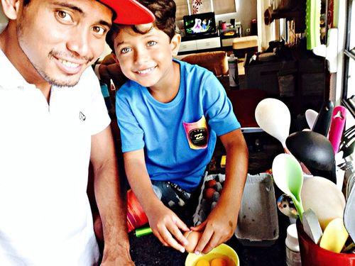 Breakfast Father & Son !!! Omelette ?
