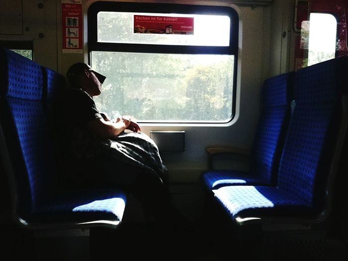 Inthetrain Window Train Peoplephotography People Watching Taking Photos Sunlight Light And Shadow Sleeping
