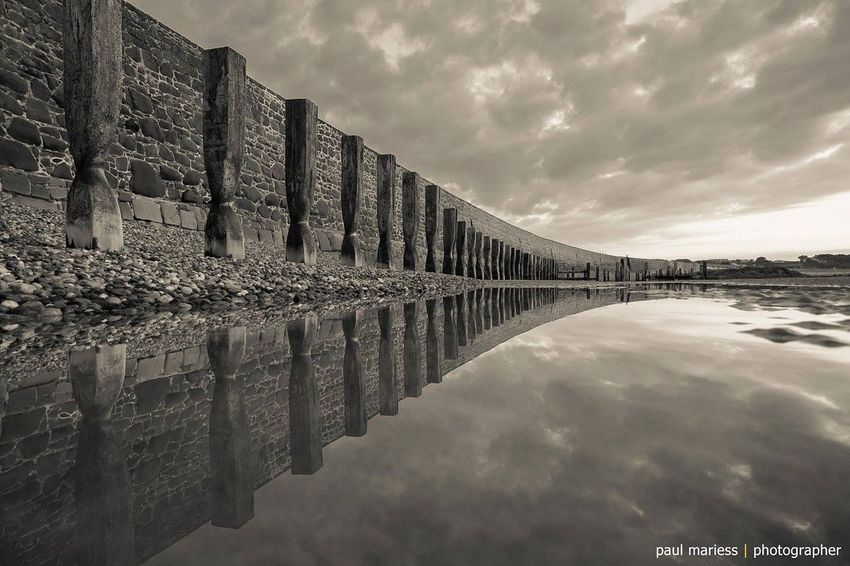 EyeEm Best Shots - Landscape Eyem Best Shots Fine Art Photography Eye4photography  Symmetrical Landscape_Collection Monochrome Guernsey Beach Water Reflections