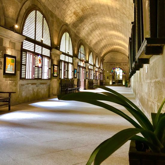 San Agustin church, a UNESCO World Heritage site Architecture Corridor UNESCO Arch