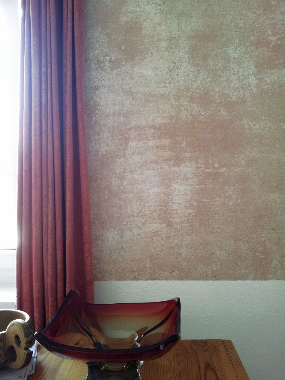 VIEW OF CURTAIN IN MIRROR
