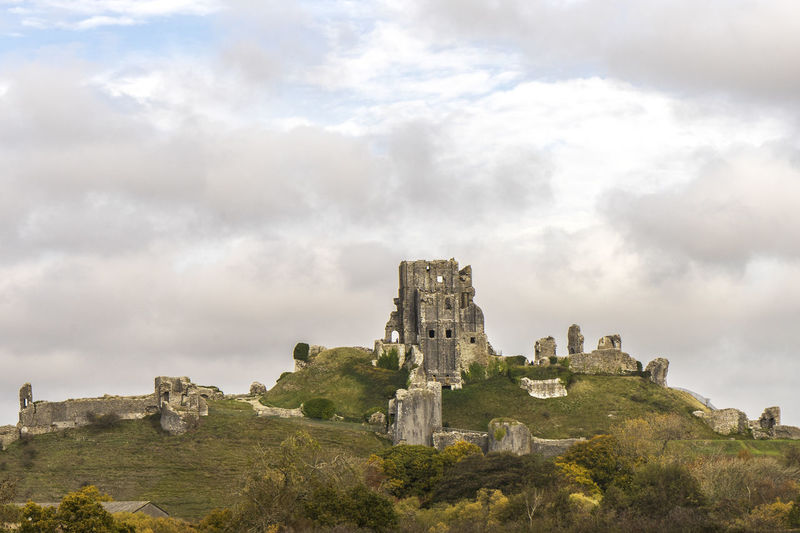 Corfe Castle, Dorset, UK Corfe Castle Architecture History Built Structure The Past Ancient Building Exterior Day Old Ruin No People Building Castle Ruined