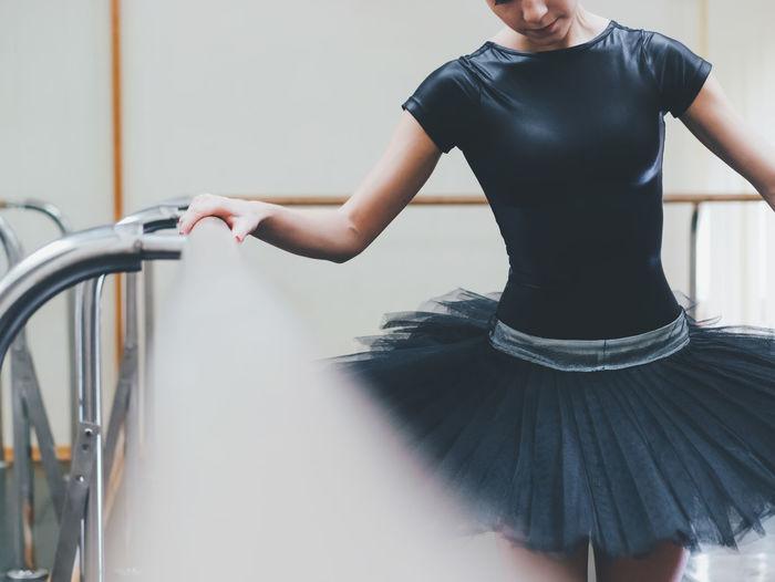 Young Ballet Dancer Practicing In Studio