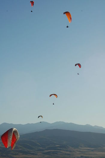 Utah Paragliding Slowly Falling To Earth Sky In The Sky Adrenaline Adrenaline Rush Adrenaline Junkies Blue Sky Freedom Excitement Hobbies