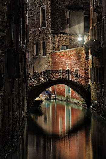 The bridge Venezia Venice, Italy Architecture Bridge - Man Made Structure Building Exterior Built Structure Canal City Connection Illuminated Night No People Outdoors Venice Water