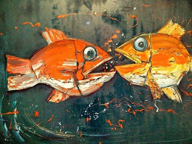 Art With Love Or How Can You Become Crazy Fish