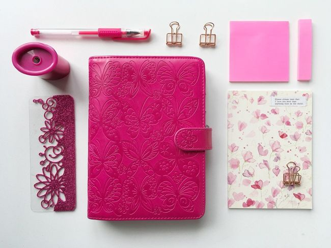 Link tool! Plannerlove Planner Organizer Pink Color Directly Above Indoors  No People High Angle View Neat Close-up Day
