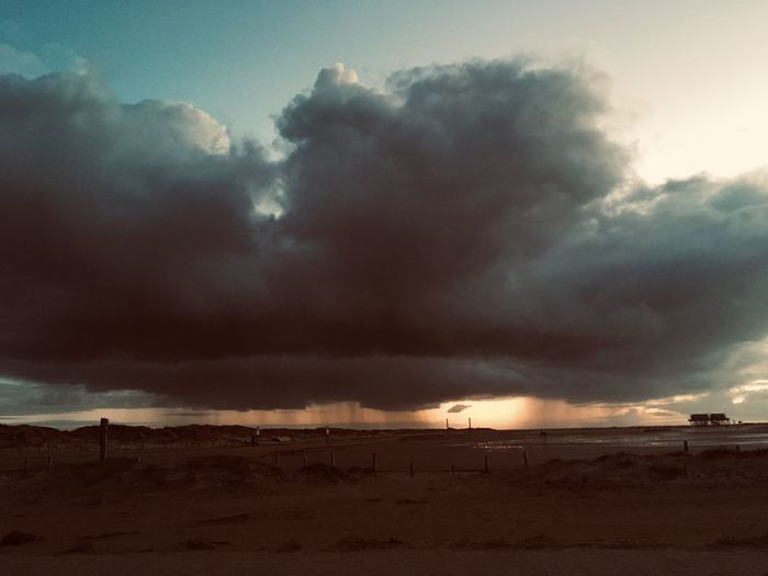 Sky Cloud - Sky Sea Water Beauty In Nature Beach Land Scenics - Nature Nature Sunset Tranquility Dramatic Sky Storm Tranquil Scene Environment Dusk Outdoors Horizon No People Horizon Over Water