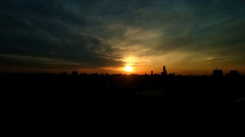 Sunset Sun Sky City Life XperiaZ1 Endoftheday Landscape VSCO Endofday