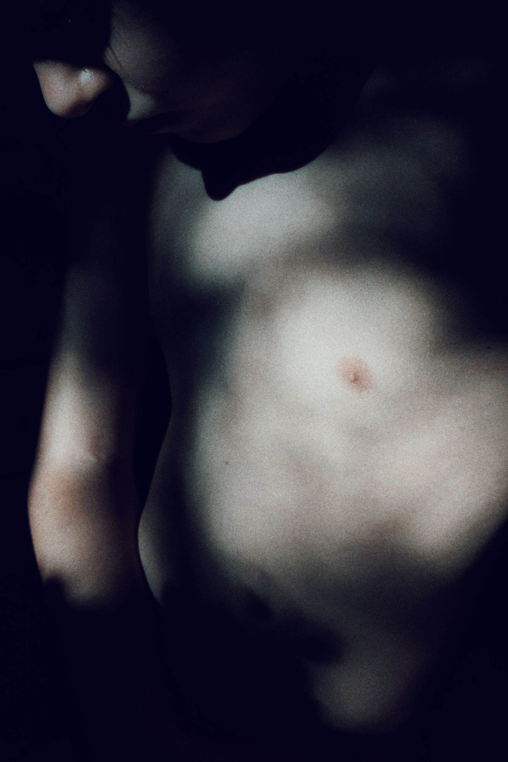 close-up, one person, adult, black and white, darkness, arm, black, muscular build, indoors, studio shot, trunk, nose, back, black background, young adult, hand, human mouth, midsection, men, human head, human face, monochrome photography, portrait, skin, strength, white, monochrome, human skin, front view, dark, human eye, lifestyles