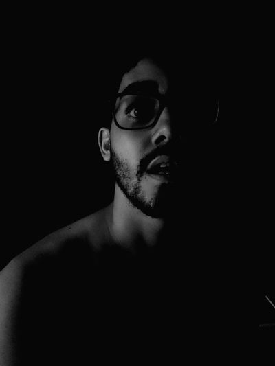EyeEm Selects Dark Night Glass Men Looking At Camera Eyeglasses