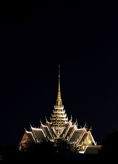 Architecture Built Structure Night Religion Illuminated Travel Destinations Belief Place Of Worship Spirituality Outdoors Spire  The Past History Thailand