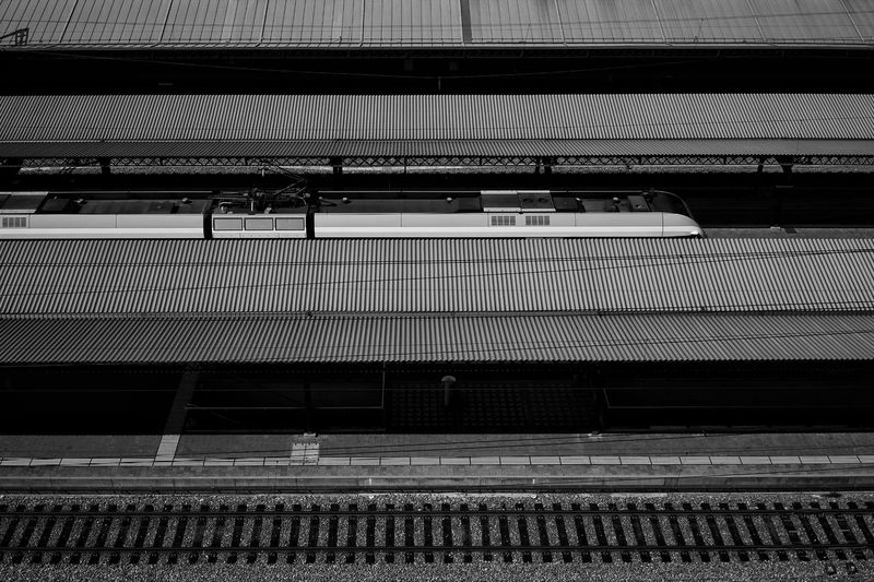 Low angle view of railroad station platform