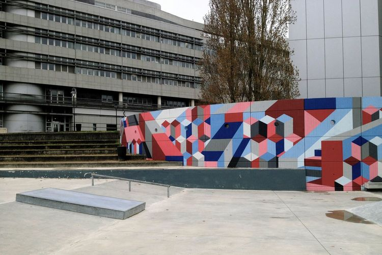 Architecture Tree City Street Art Skateboard Park Outdoors Concrete Colors