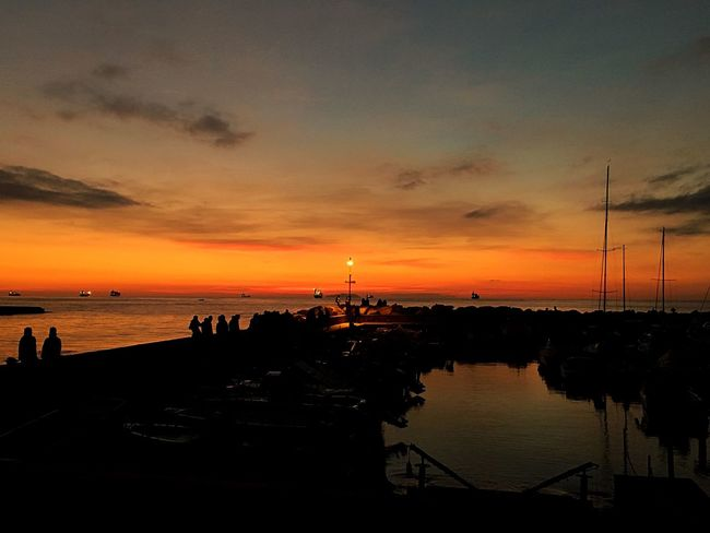 Livorno Sunset Relaxing Beautiful Enjoying Life Love Lovely Italy Light Fire Colors Portrait