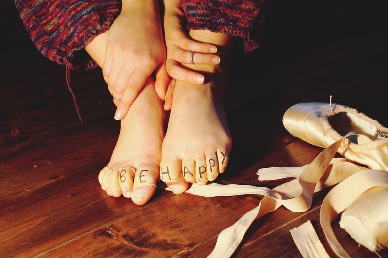 Resist Human Body Part Human Hand Close-up Indoors  Women Art Ballet Dancer Pointe Shoes Foot Pointe Work Traditional Beauty Ribbons