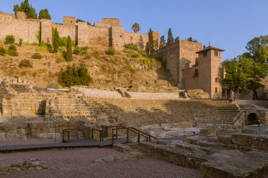 Ancient Ancient Civilization Archaeology Architecture Building Exterior Built Structure Clear Sky Day History No People Old Ruin Outdoors Roman Theatre Sky Steps The Past Theatre Travel Travel Destinations Tree
