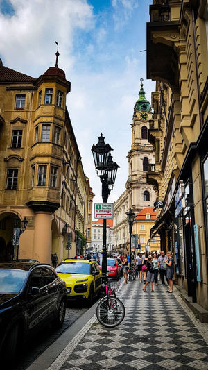 Car Architecture Day Travel Destinations Sky Outdoors City Sign Summer 2017 Nikonphotographer EyeEm Gallery Nikon D3200 Lamp Design Streetphotography Prague Czech Republic Instragram Happy Time Built Structure Travelling Prague Travel Lover❤ Location Crowd Architecture Old Town Square Walking