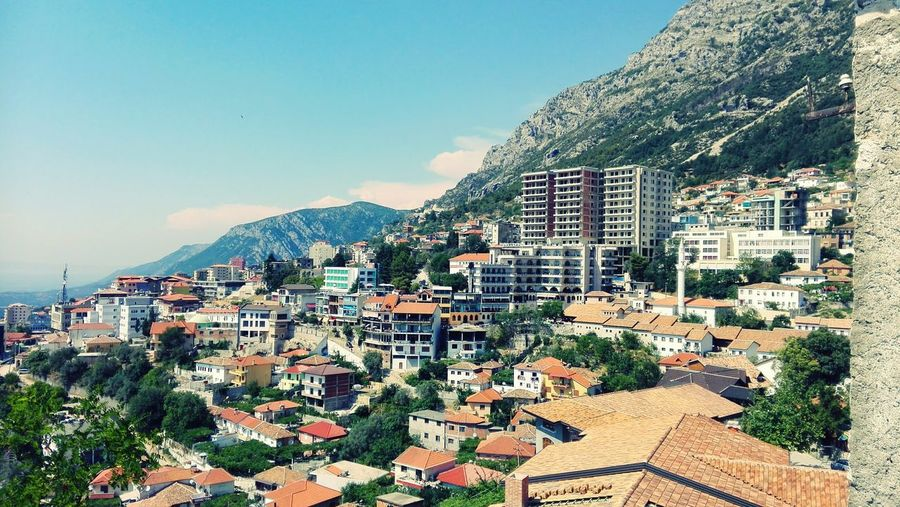 Last summer EyeEmNewHere Albanian View Albania Nature Lovely Tree Mountain Cityscape Sky Architecture Building Exterior Built Structure TOWNSCAPE Town Tiled Roof  Housing Settlement