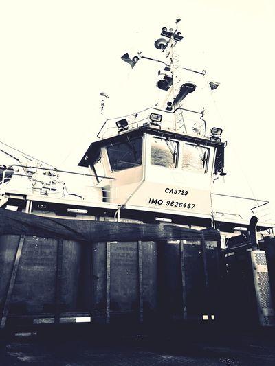 Boat Ship On Board Black And White Monochrome Chiloé, Chile