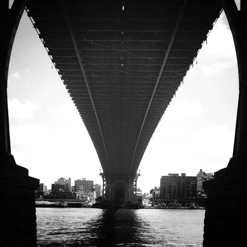 A Frame Within A Frame underneath the bridge New York City East River Architecture