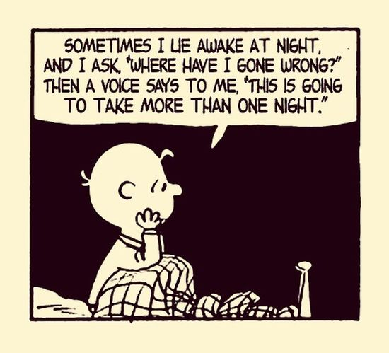 Charlie Brown Peanuts Charles Schulz Insomnia Insomniac_collection Sleepless Night Can't Sleep