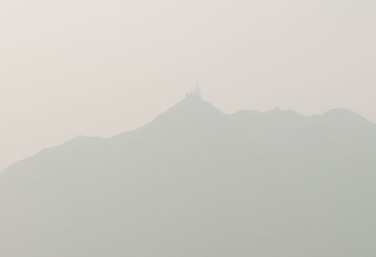 Smog in Hong Kong Beauty In Nature Day Fog Landscape Mountain Nature No People Outdoors Scenics Sky Tranquil Scene Tranquility