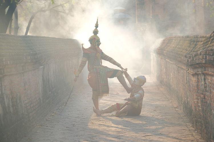 Art culture thailand dancing in masked khon totsakan and hanuman in literature amayana,thailand