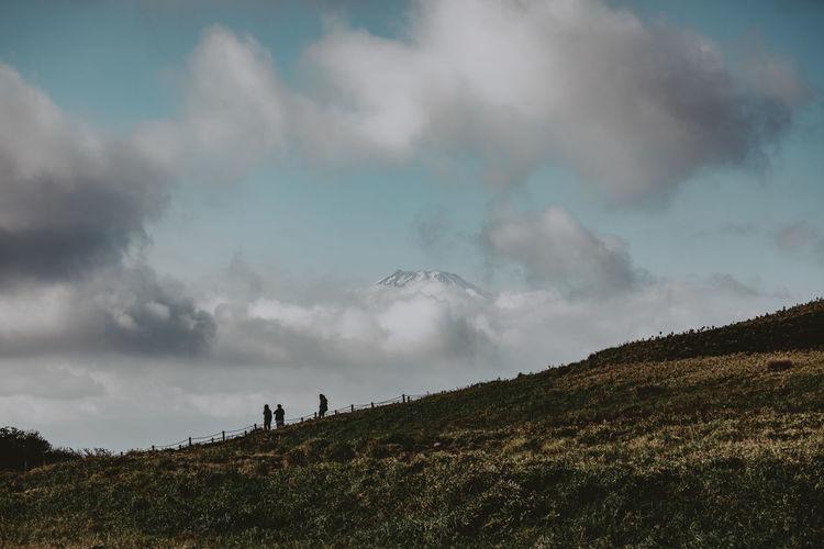 Panoramic shot of land against sky