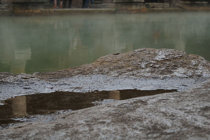 Roman Baths Ancient Roman Baths Water Green Water Romans Grey Steam Warm Spring Water Historical Place Puddle Ancient Remains