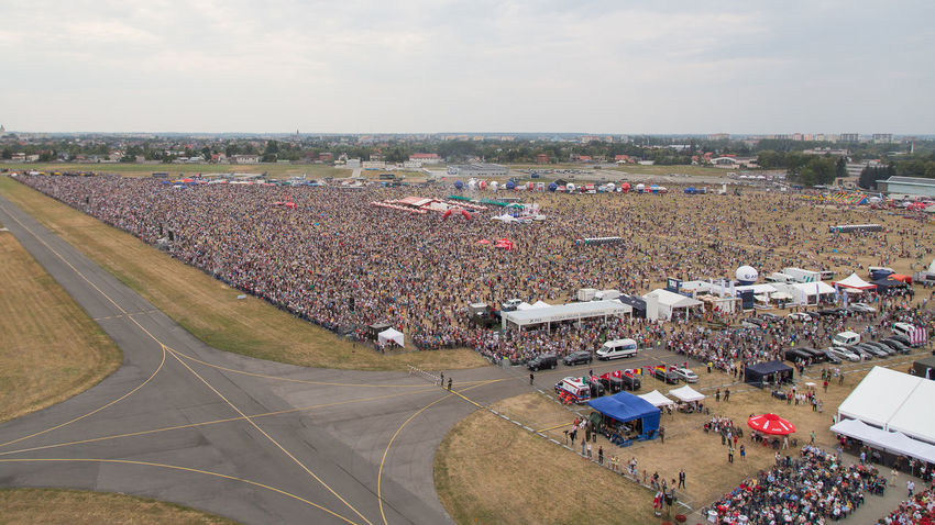 Air Force Aircrafts Airport Airshow Aviation Crowd Display Dynamic Military Overview People Photography Poland Radom Show